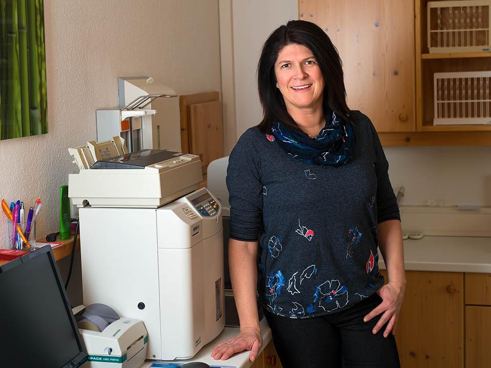 Dr. Gertrud Huber-Uray in der  Praxis Dr. Michael Huber, Internist - Interne Medizin, Kirchdorf an der Krems